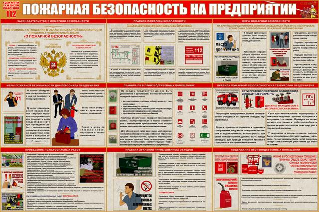 Пожарная безопасность на предприятиях р эвакуационные знаки технология производства