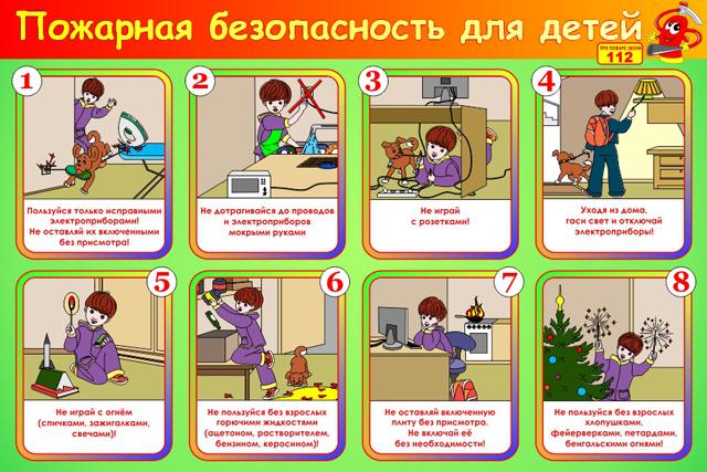 Правила пожарной безопасности для детей картинки
